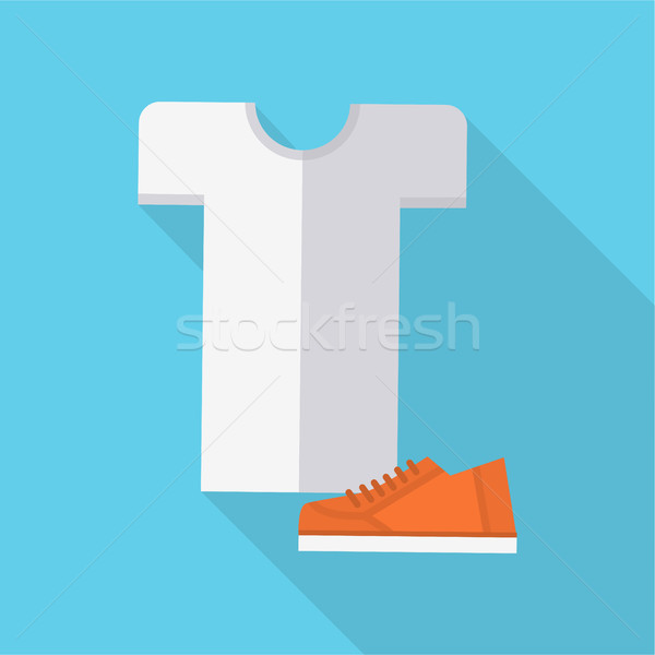 Clothing and Footwear Vector in Flat Design.   Stock photo © robuart