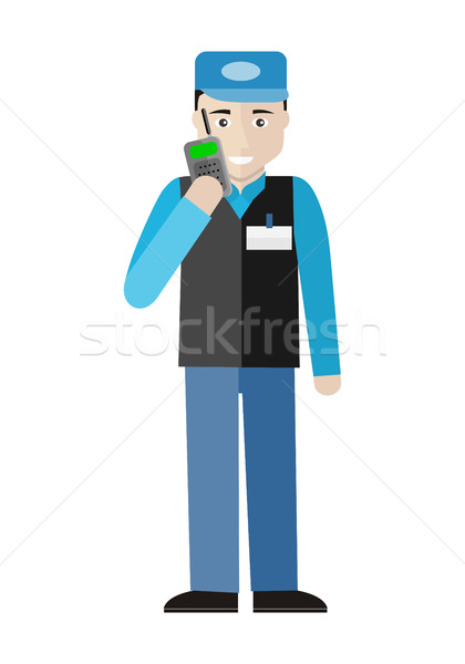Security Character Illustration in Flat Design. Stock photo © robuart