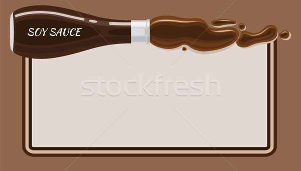 Soy Sauce Framed Vector Banner with Copyspace Stock photo © robuart