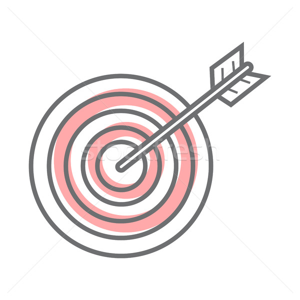 Target Isolated on White. Video Marketing Stock photo © robuart