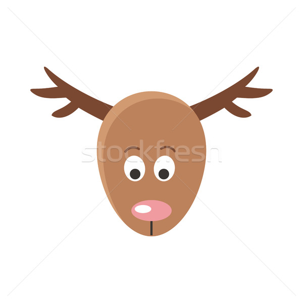 Deer Cartoon Sticker Face. Mask for Masquerade Stock photo © robuart