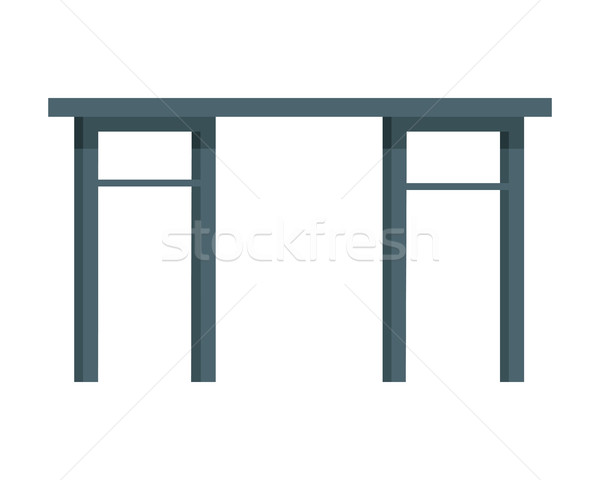 Table Vector Illustration in Flat Design Stock photo © robuart