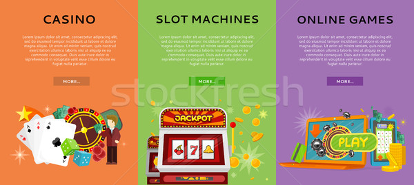 Casino Gambling Website Templates Set Stock photo © robuart
