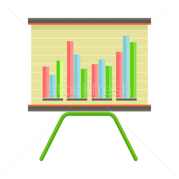 Presentation Screen with Bar Chart Isolated Vector Stock photo © robuart