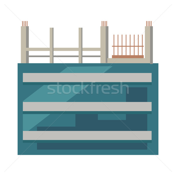 Unfinished Building. First Floors with Glasses Stock photo © robuart