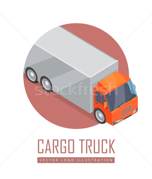 Truck Vector Icon in Isometric Projection Stock photo © robuart