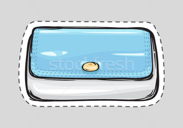 Women Clutch Bag Isolated. Patch. Ladies Handbag Stock photo © robuart