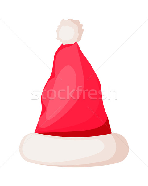 Santa Claus Winter Woolen Hat Isolated on White. Stock photo © robuart