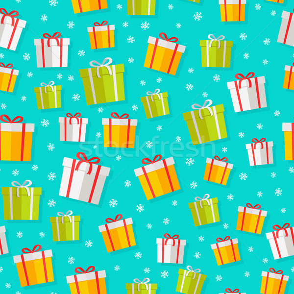 Wrapped Gifts Seamless Patterns Vector Stock photo © robuart