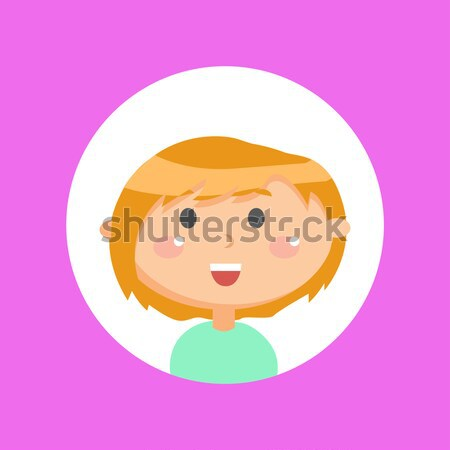 Woman Face Emotive Vector Icon in Flat Style   Stock photo © robuart