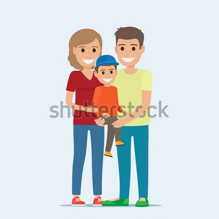 Married Couple in Casual Cloth and Little Son Stock photo © robuart