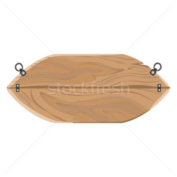 木製 広告 オーバル パネル にログイン ボード ストックフォト © robuart