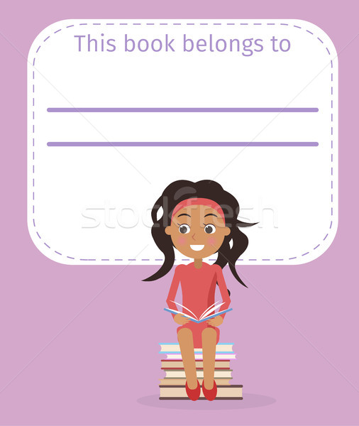 Cover with Place for Signing and Girl Illustration Stock photo © robuart