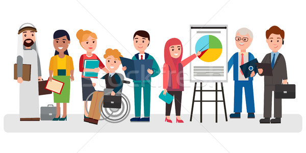 Stock photo: People that Involved in Business Illustration