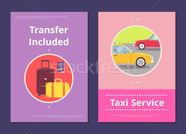 Taksi hizmet otel transfer posterler ağır Stok fotoğraf © robuart