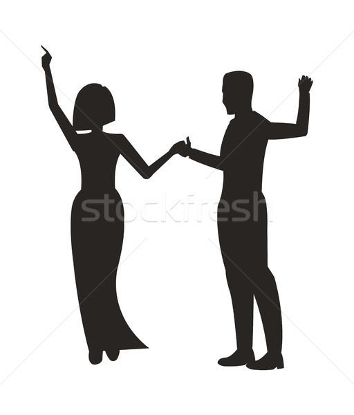 Pár tánc buli élvezi egyéb fekete Stock fotó © robuart