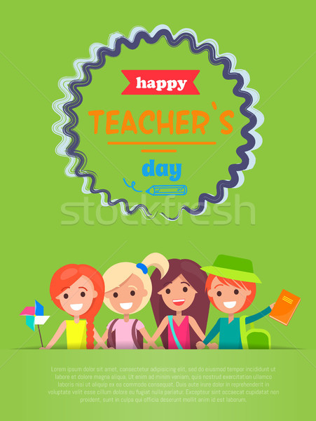 Happy Teachers Day with Text Vector Illustration Stock photo © robuart