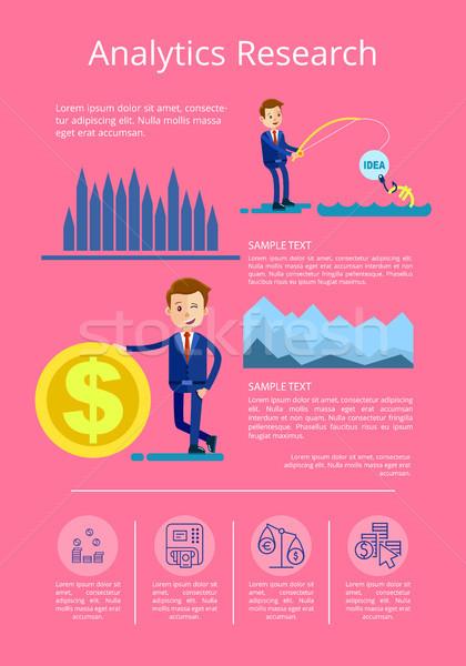 Analitika kutatás adat férfi befektetések üzletember Stock fotó © robuart