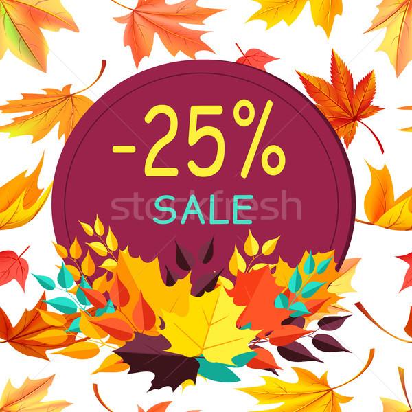 Vásár ősz 25 akció promo poszter Stock fotó © robuart