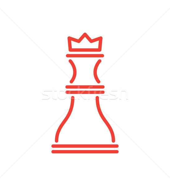 Icon of Rook of Red Colour Vector Illustration Stock photo © robuart