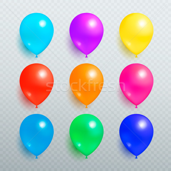 Colorful Shiny Balloons on Transparent Background Stock photo © robuart