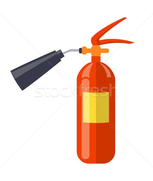 Carbon Dioxide Extinguisher Isolated Illustration Stock photo © robuart
