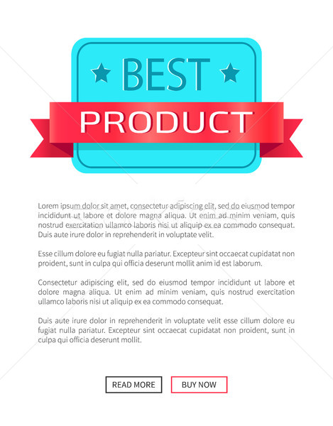 Best Product Award Certificate Discount Label Stock photo © robuart