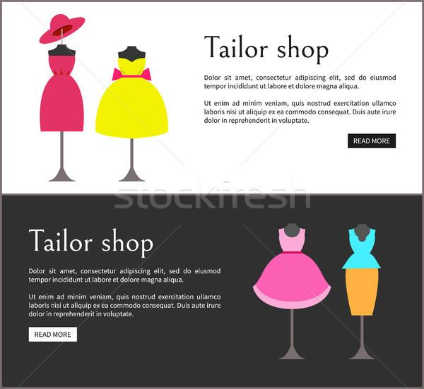 Tailor Shop Web Pages Set Vector Illustration Stock photo © robuart