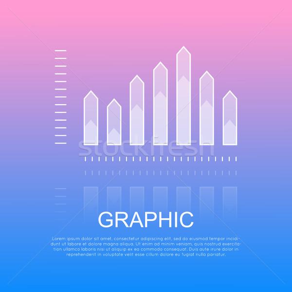Grafikus átlátszó oszlop diagram éles fél Stock fotó © robuart