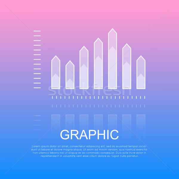Grafische transparant kolom grafiek scherp half Stockfoto © robuart
