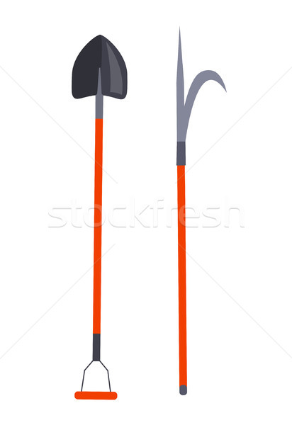 Shovel and Other Long Thing for Firefighting Set Stock photo © robuart