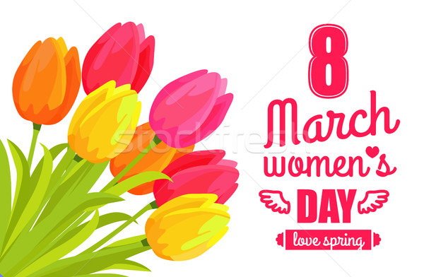 8 March Ladys Day Love Spring Vector Illustration Stock photo © robuart