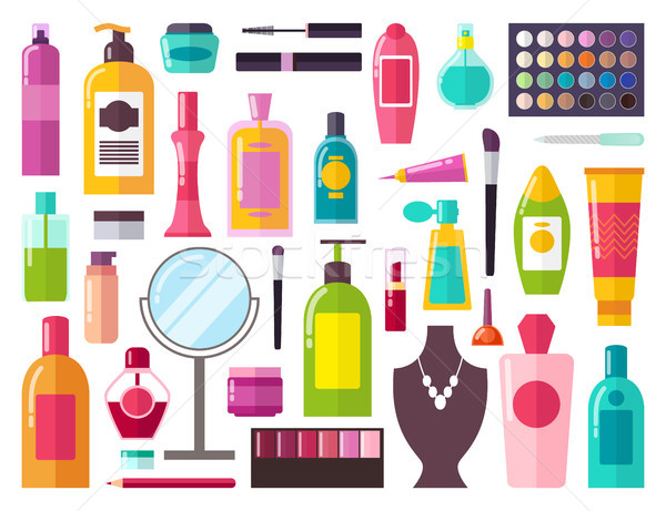 Make Up Collection of Items Vector Illustration Stock photo © robuart