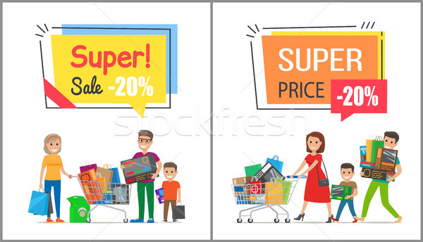 Super Sale with Nice Price Promotional Posters Stock photo © robuart