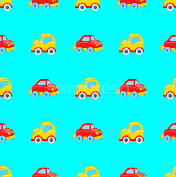 Yellow and Red Toy Cars Seamless Pattern Stock photo © robuart
