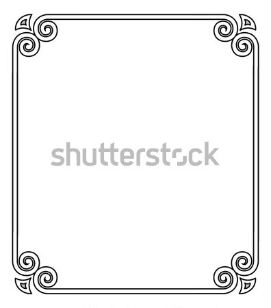 Vintage Frame with Ornamental Decor Element Corner Stock photo © robuart