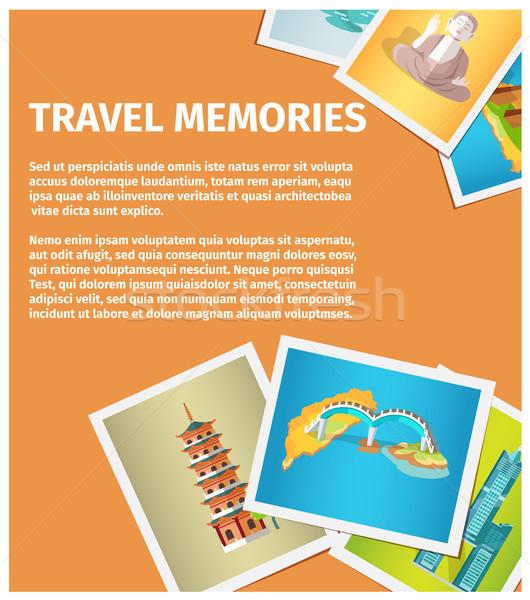 Stock photo: Travel Memories Flat Vector Web Banner
