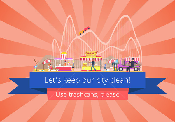 Stock photo: Lets Keep Our City Clean, Vector Illustration