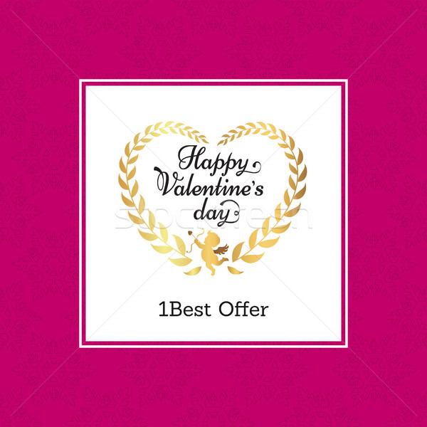Happy Valentine Day Best Offer Vector Illustration Stock photo © robuart