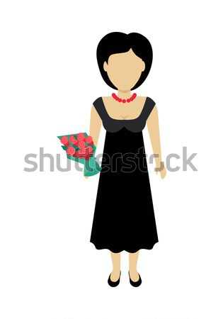 Stock photo: Woman Character Template Vector Illustration.
