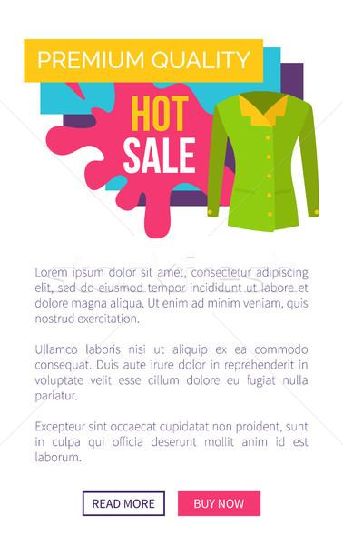 Forró vásár termékek prémium minőség logotípus Stock fotó © robuart