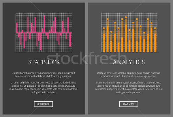 Statistiques analytics texte échantillon Photo stock © robuart
