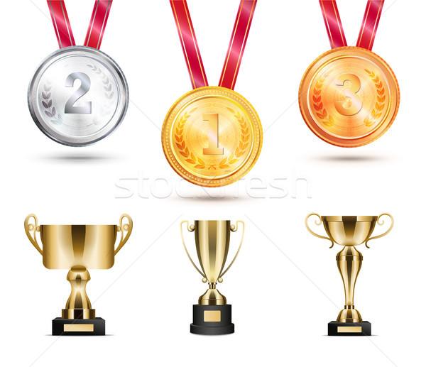Colección trofeos establecer Foto stock © robuart