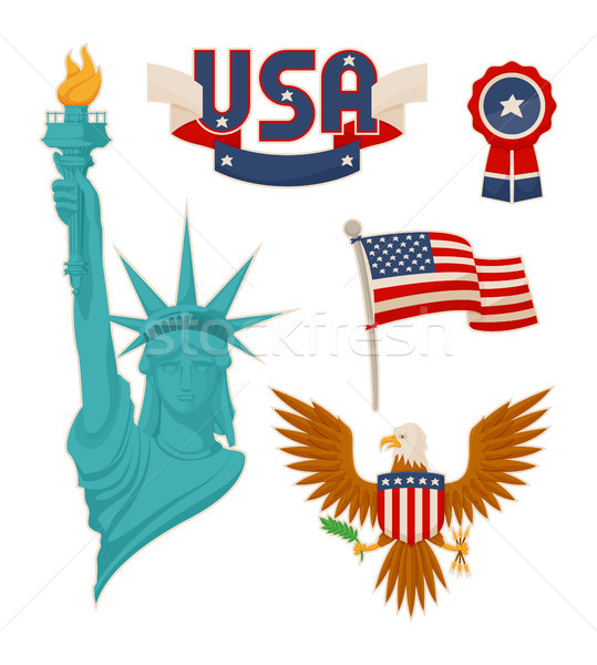 USA National Symbolism Color Vector Illustration Stock photo © robuart