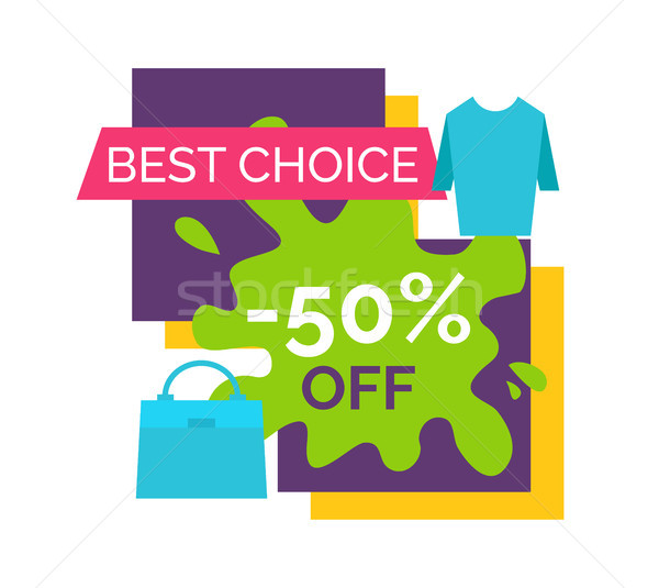 Half Price Off Best Choice Promotional Logotype Stock photo © robuart