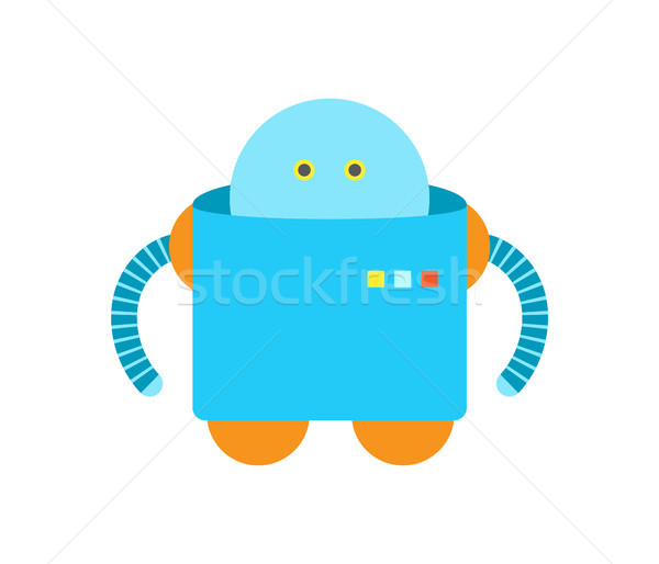 Humanoid of Blue Color Closeup Vector Illustration Stock photo © robuart