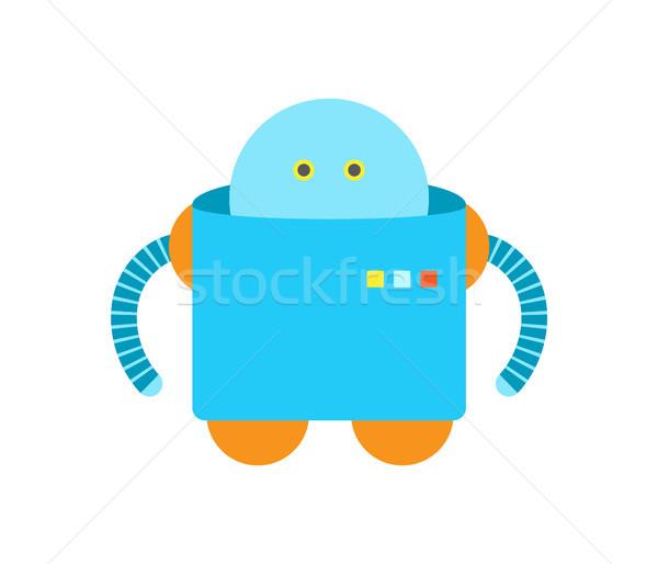 Insansı mavi renk robot eller Stok fotoğraf © robuart