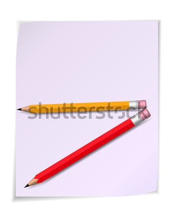 Paper scroll with pencil. Vector Stock photo © robuart