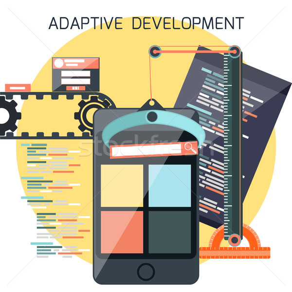 Icons for adaptive development Stock photo © robuart