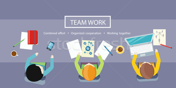 Team Work Concept. Business Meeting Stock photo © robuart